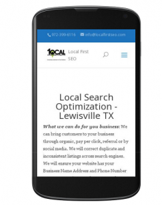 Mobile Friendly -Lewisville TX|