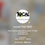 Local First Google Plus Page Lewisville TX|Google Plus Page